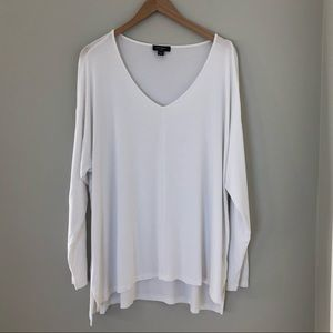 Lord and Taylor V-neck High Low Long Sleeve Tee